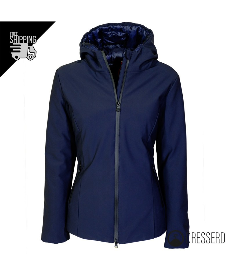 the latest 661e4 5ff05 Giubbotto donna invernale con cappuccio, giubbino slim fit