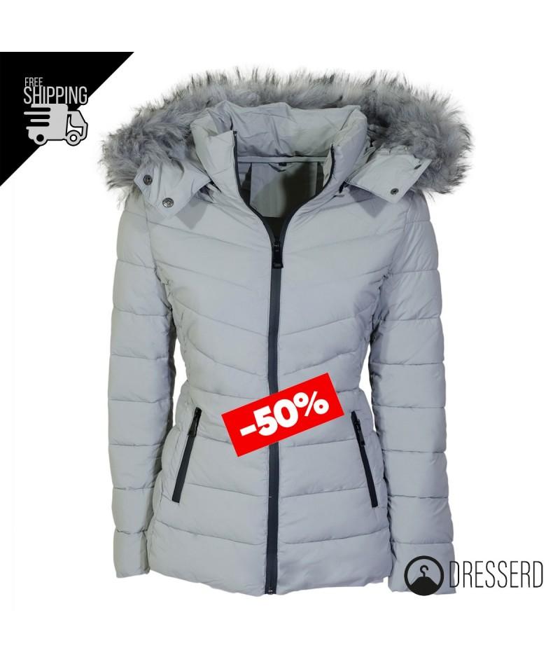 huge discount 6b833 3b46f Giubbotto donna invernale giubbino con cappuccio