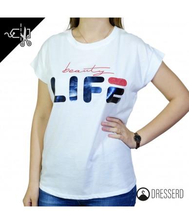 T-shirt donna con scritta Life