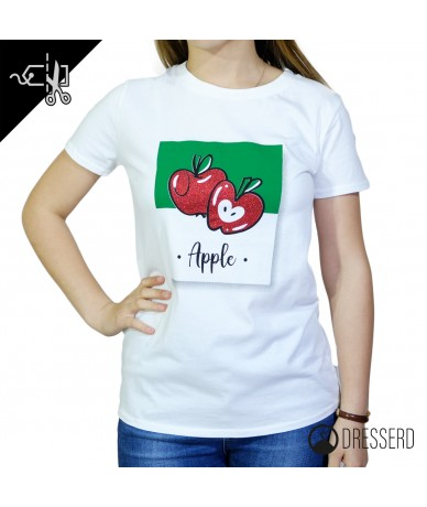 T-shirt donna con stampo in...