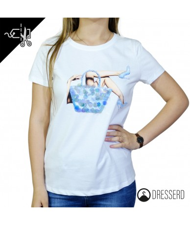 T-shirt donna con stampo ed...