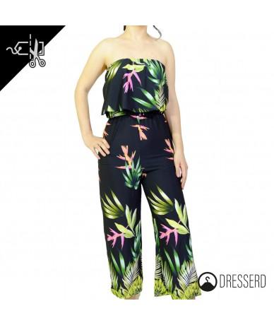 Tuta Jumpsuit cropped floreale