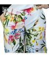 Pantaloni cropped con stampa a fiori