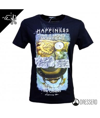 T-shirt uomo cotone Happiness
