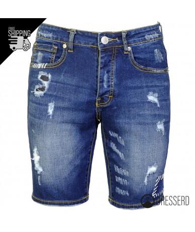Jeans corto con lavorazioni