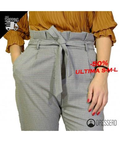 Pantalone vita alta con...