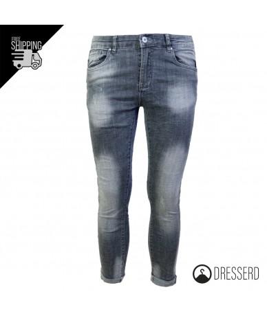 Jeans Uomo Grigio Slim Fit...