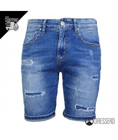 Bermuda Jeans Uomo Strappi...