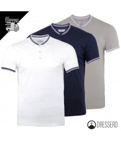 T-Shirt Uomo Collo Coreano...