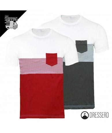 T-Shirt Uomo Taschino Trama...