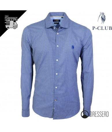 Camicia Uomo P-CLUB 100%...