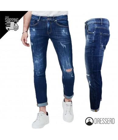 Jeans Uomo Slim Fit Strappi...