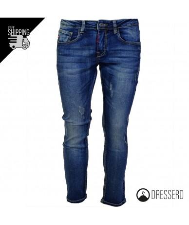 jeans uomo gamba stretta