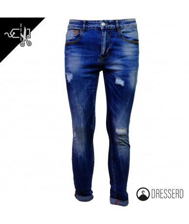 jeans gamba stretta con...