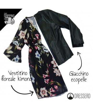 Outfit vestitino kimono e...